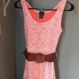 Pink and white crochet Rue 21 Dress size small